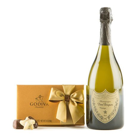 Dom Perignon & Godiva Chocolates Gift Set - Wine Collection Gift