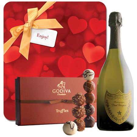 For Love Of Dom Perignon & Godiva - Wine Collection Gift